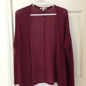 Maroon cardigan. Medium! 🥀